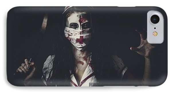Possessed Health Practitioner With Surgeon Saw IPhone Case by Jorgo Photography - Wall Art Gallery