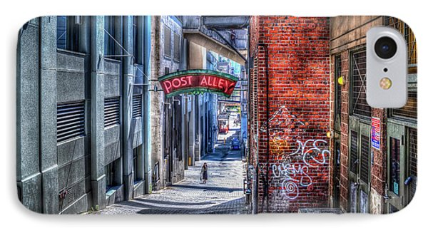 IPhone Case featuring the photograph Post Alley Straggler by Spencer McDonald