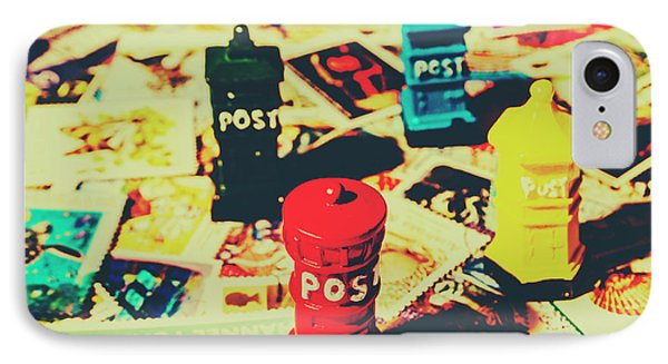 IPhone 7 Case featuring the photograph Postage Pop Art by Jorgo Photography - Wall Art Gallery