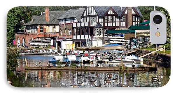 Postcard Perfect Boathouse Row IPhone Case by Frozen in Time Fine Art Photography