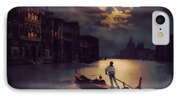 IPhone Case featuring the painting Postcards From Venice - The Red Gondola by Douglas MooreZart