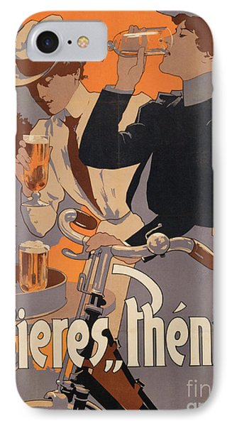 Poster Advertising Phenix Beer IPhone 7 Case by Adolf Hohenstein