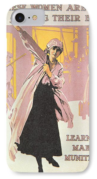 Poster Depicting Women Making Munitions  IPhone Case