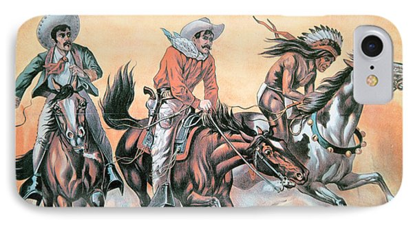 Poster For Buffalo Bill's Wild West Show Phone Case by American School
