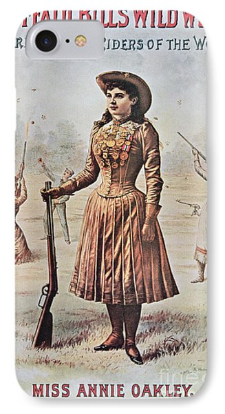 Poster For Buffalo Bill's Wild West Show With Annie Oakley IPhone Case by American School
