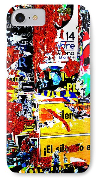 Poster Wall In Santiago  IPhone Case by Funkpix Photo Hunter