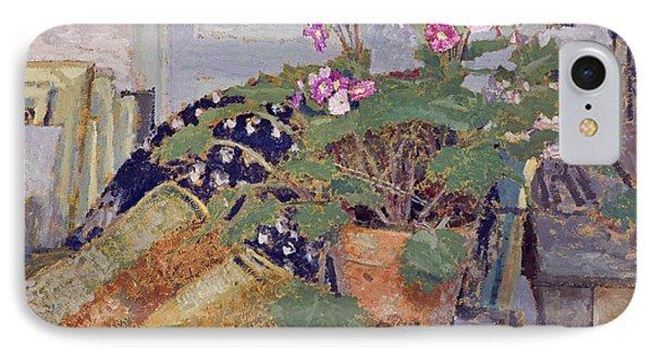 Pot Of Flowers IPhone Case by Edouard Vuillard