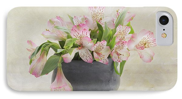 IPhone Case featuring the photograph Pot Of Pink Alstroemeria by Kim Hojnacki