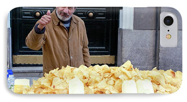 Potato Chip Man IPhone Case