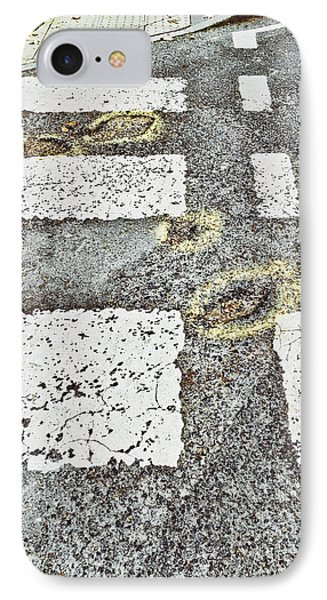 Potholes In A Road IPhone Case by Tom Gowanlock