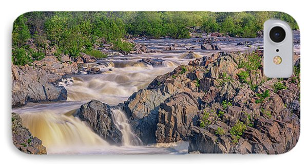 Potomac River At Great Falls Park IPhone Case by Rick Berk