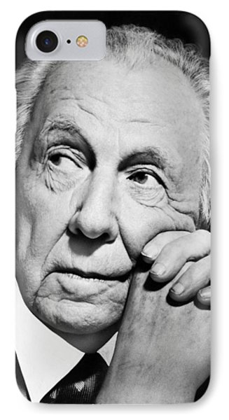 Potrait Of Frank Lloyd Wright IPhone Case by Underwood Archives