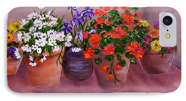 Pots Of Flowers IPhone Case