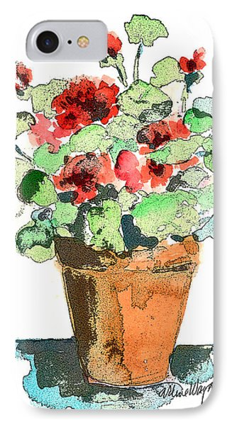 Potted Geraniums Phone Case by Arline Wagner