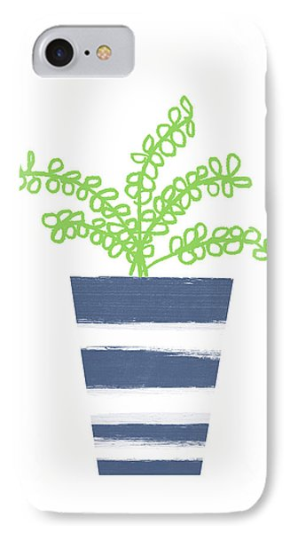 Potted Plant 1- Art By Linda Woods IPhone Case