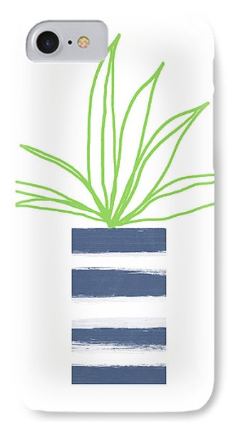 IPhone Case featuring the mixed media Potted Plant 2- Art By Linda Woods by Linda Woods