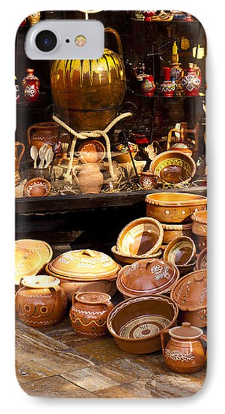 Pottery In The Bazaar Phone Case by Rae Tucker