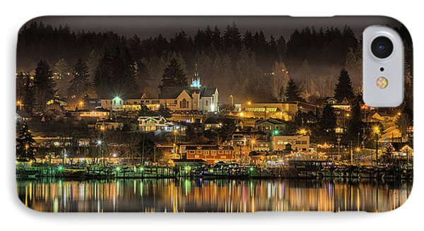 Poulsbo Waterfront 5 IPhone Case by Wally Hampton