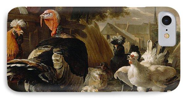 Poultry Yard IPhone 7 Case by Melchior de Hondecoeter