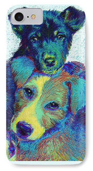 Pound Puppies Phone Case by Jane Schnetlage