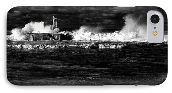 IPhone Case featuring the photograph Pounding The Breakwater by Nareeta Martin