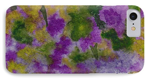 IPhone Case featuring the painting Pouring Flowers by Vicki  Housel