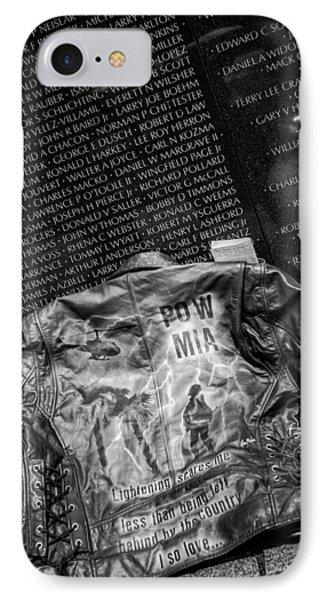 Pow Mia Never Forget IPhone Case by Sennie Pierson