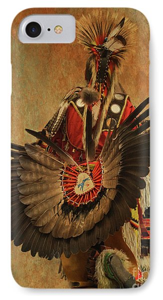 IPhone Case featuring the mixed media Pow Wow 2 by Jim  Hatch