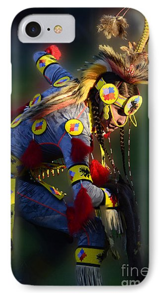 Pow Wow Beauty Of The Past 7 IPhone Case by Bob Christopher