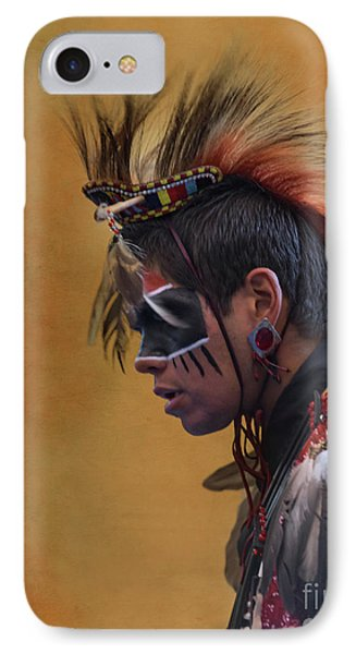 IPhone Case featuring the mixed media Pow Wow by Jim  Hatch