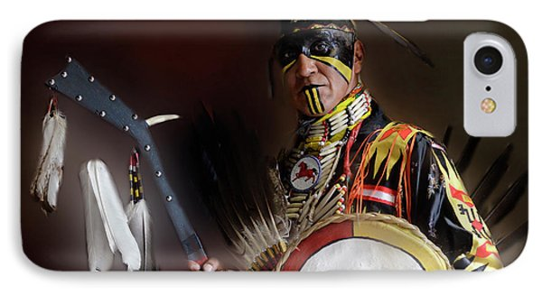Pow Wow Portrait Of A Proud Man 2 IPhone Case by Bob Christopher