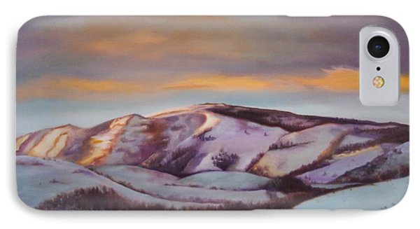 IPhone Case featuring the painting Powder Mountain by Marlene Book
