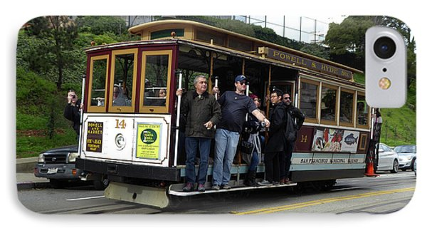 IPhone Case featuring the photograph Powell And Market Street Trolley by Steven Spak