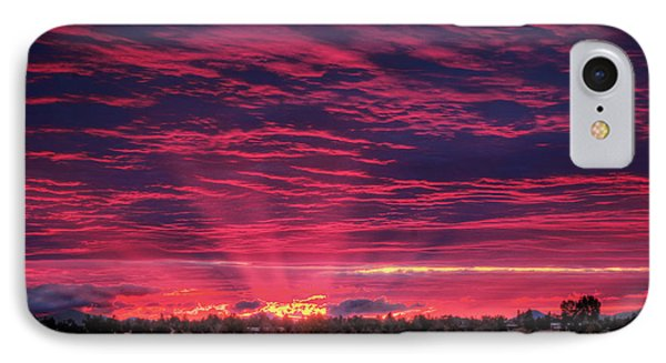 Powell Butte Oregon Sunset IPhone Case by Tyra OBryant