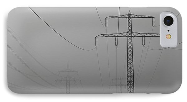 IPhone Case featuring the photograph Power Line by Franziskus Pfleghart