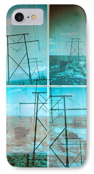 IPhone Case featuring the digital art Power Line Patriots by Bartz Johnson