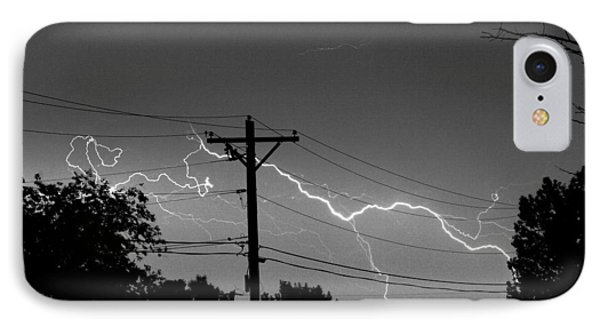 Power Lines Bw Fine Art Photo Print IPhone Case