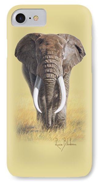 Bull iPhone 7 Case - Power Of Nature by Lucie Bilodeau