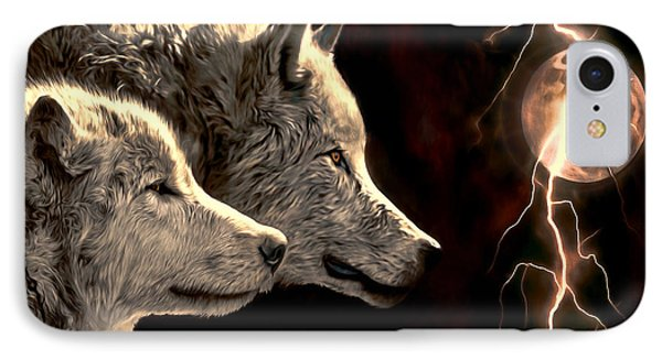 Power Of The Moon IPhone Case by Pennie  McCracken