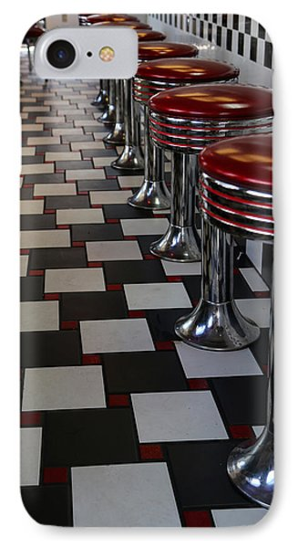 Power's Diner Port Huron IPhone Case by Mary Bedy