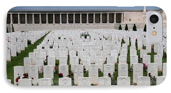 IPhone Case featuring the photograph Pozieres British Cemetery by Travel Pics