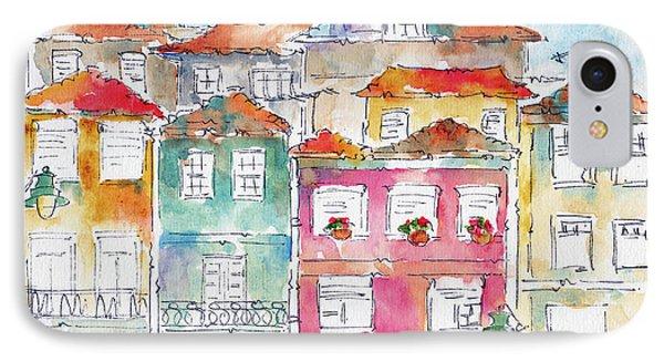 IPhone Case featuring the painting Praca Da Ribeira Porto by Pat Katz