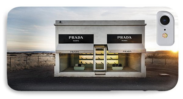 Prada Marfa Is A Permanently Installed Sculpture By Elmgreen And Dragset Near The Town Of Valentine IPhone Case by Carol M Highsmith