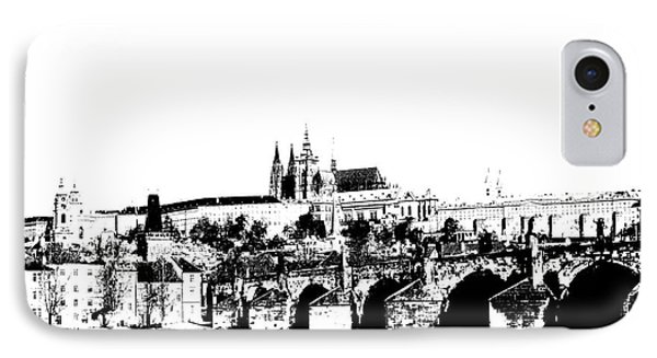 Prague Castle And Charles Bridge Phone Case by Michal Boubin
