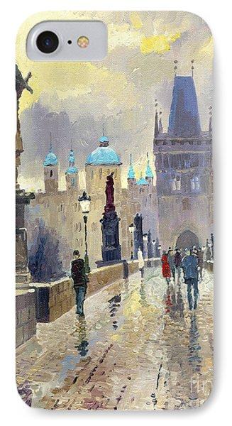 Prague Charles Bridge 02 Phone Case by Yuriy  Shevchuk