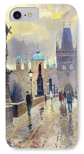 Prague Charles Bridge 02 IPhone Case by Yuriy  Shevchuk