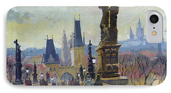 Prague Charles Bridge 04 IPhone Case