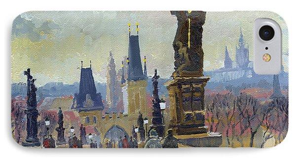 Prague Charles Bridge 04 IPhone Case by Yuriy  Shevchuk