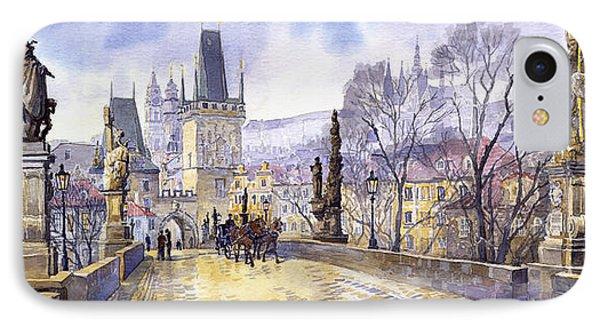 Prague Charles Bridge Mala Strana  IPhone Case by Yuriy  Shevchuk