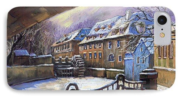 Prague Chertovka Winter 01 IPhone Case by Yuriy  Shevchuk